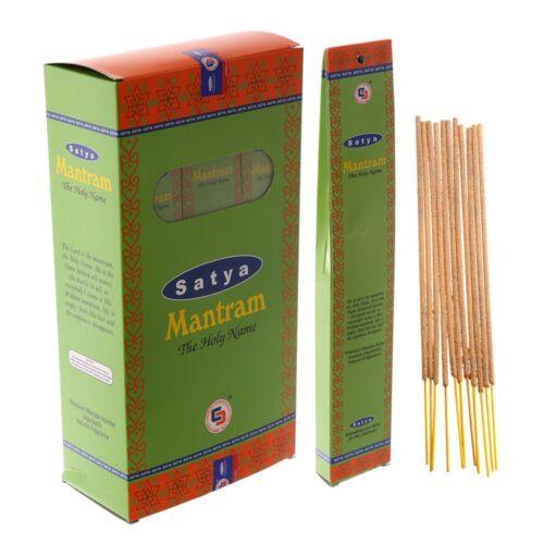 Mantram von Satya LLP BIG PACK 12 x 15g Indische Räucherstäbchen