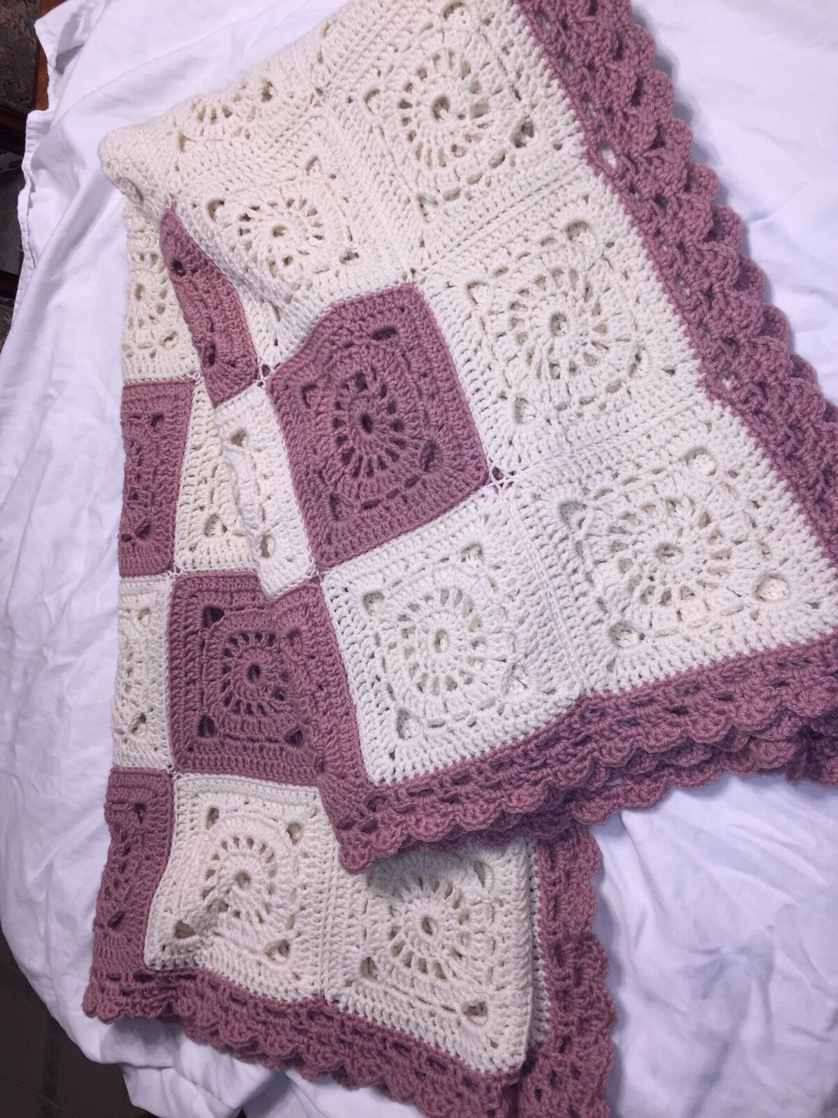84 X 65 Handmade Crocheted Blanket