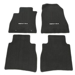 2013 2015 Nissan Sentra Black Carpeted Floor Mats Front Rear Set
