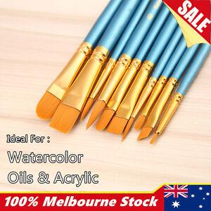 Artist Paint Brushes Set Kit Watercolour Acrylic Oil Painting Face Paints Craft 6475039048240