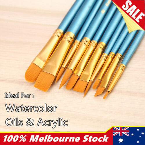 Artist Paint Brushes Set Kit Watercolour Acrylic Oil Painting Face Paints Craft