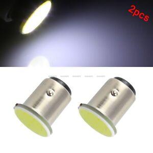 2x-White-1157-BA15D-12V-COB-LED-Car-Reverse-Backup-Tail-Brake-Light-Lamps-Bulbs
