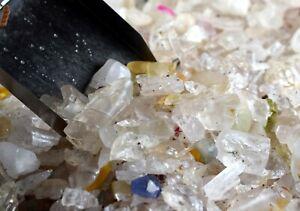 Gemstone Rough Lot 500 Ct Srilankan Ceylon White Sapphire Natural Untreated