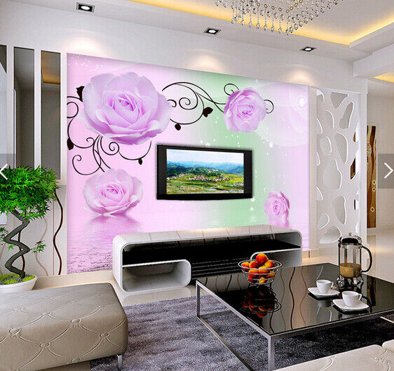 3D Romantic pinks 722 Wall Paper Murals Wall Print Wall Wallpaper Mural AU Lemon