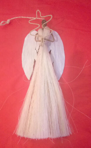 3 pouces arbre de noël décoration Handmade sisal angel