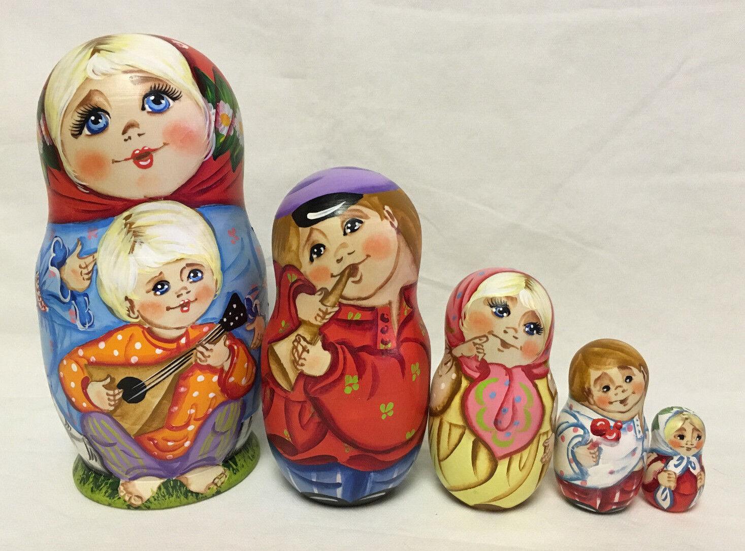 Russe Matriochka Russe en bois poupées russes - 5 pieces  9