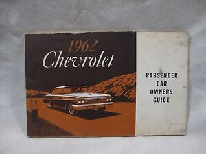 1962 Chevrolet Belaire Biscayne Impala Owners Manual User Guide Operator Book