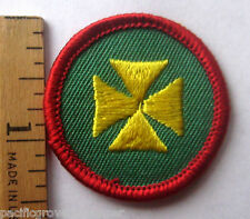 Girl Scout 1980-2001 Junior FIRST AID BADGE Red Maltese Cross Medic Doctor Patch