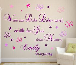 Sterne 40 Stück Wunschname Name personalisiert Wandtattoo Kinderzimmer B305
