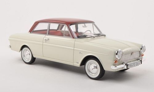 FORD TAUNUS 12m  p4  1965 bianco/rosso scuro 1:18 Bos    NEW <<