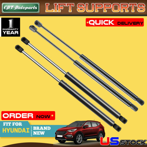 4x Hood+Tailgate Lift Supports Gas Shock Struts fit Hyundai Santa Fe 2007-2012