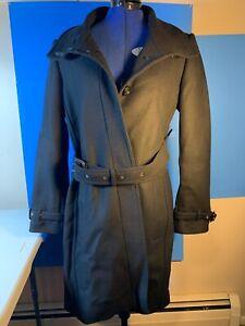 Burberry-Women-039-s-Gibbsmoore-Coat-Wool-Trench-Coat-Color-Black-Size-US-10