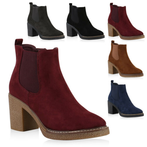 Damen Schuhe Klassische Stiefeletten Basic 818125 Trendy Neu