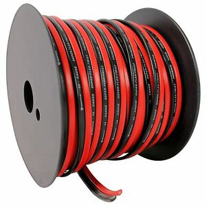 Rockville R14GSBR100 Red/Blk 14 Gauge 100' Ft. Mini Spool Car Audio Speaker Wire 689550097373