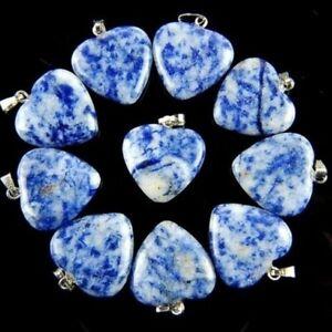 10pcs alomite Sodalite Heart Pendant Bead alomite DIY mascot Wholesale