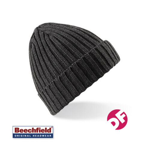 Beechfield Mens//Womens Chunky Ribbed Winter Beanie Hat Unisex Hat 6 Colours NEW