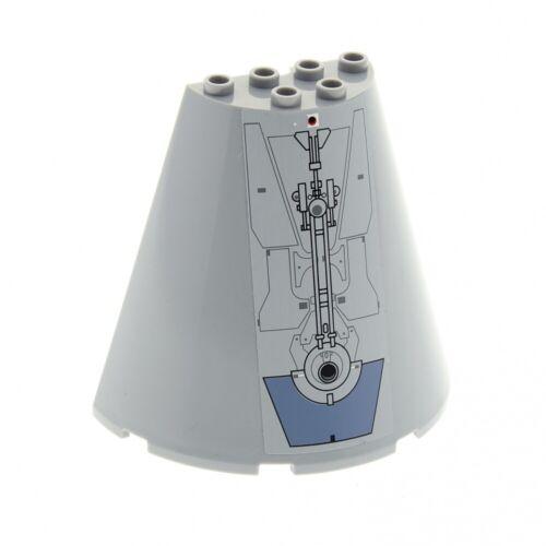 1x Lego Rescue Capsule half Cone Light Grey 8x4x6 Star Wars 9490 48310 47543pb06