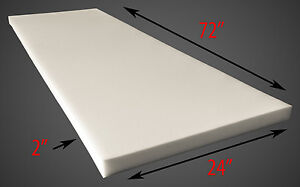 "Foam Dry Fast Reticulated Foam Sheets Upholstery Foam 2"" Thick, 24"" Wide x 72"""
