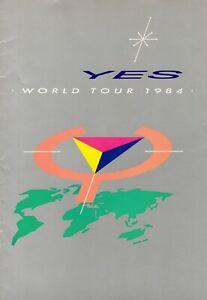 YES 1984 9012 LIVE WORLD TOUR-CONCERT PROGRAM BOOK-JON ANDERSON