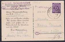 Alliierte Besetzung Mi Nr. 916 EF auf Drucksache NWD Hackenstedt Post Holle 1946