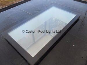 Flat Roof light Glass Rooflight Skylight Roof lantern 20 Year warranty ALL SIZES