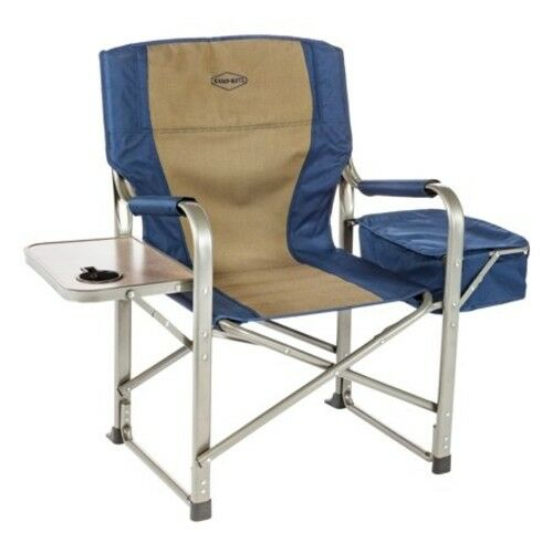 Camping Fishing Beach Sport Portable Folding Director's Chair Side Table Cooler
