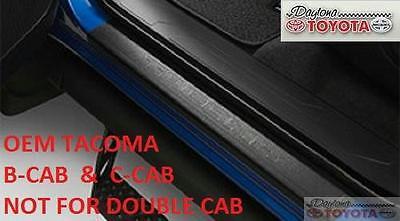 Tacoma Crew Cab Factory Door Sill Protectors PT747-35052 Genuine OEM