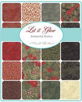 Let It Glow Christmas Moda Jelly Roll Metallic Quilt Fabric 40 2.5 X 44