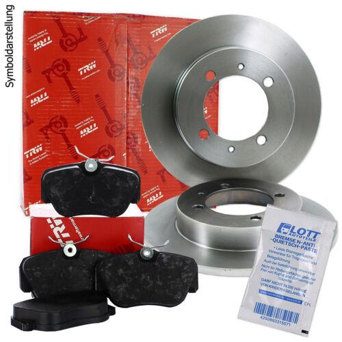 Bremsbeläge Set vorne für Citroen C2 TRW Bremsscheiben Ø266mm C3 1 2