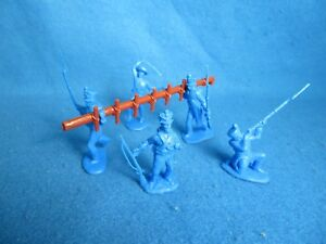 Classic Toy Soldiers (CTS)  Alamo Mexican ladder assault set medium blue 1/32
