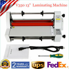 13 V350 Laminator Hot Cold Roll Laminating Machine Four Rollers Digital Display