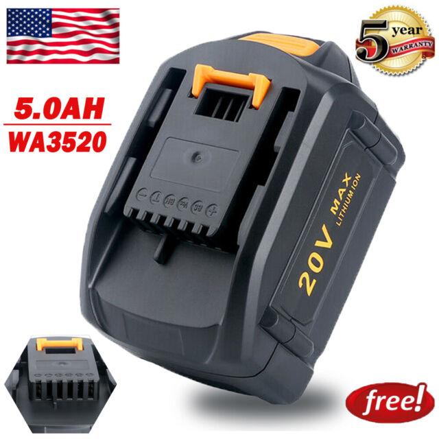 Replace for Worx 5.0AH 20V Lithium Battery WG546 WA3525 WA3520 MAX 5000mAh Power