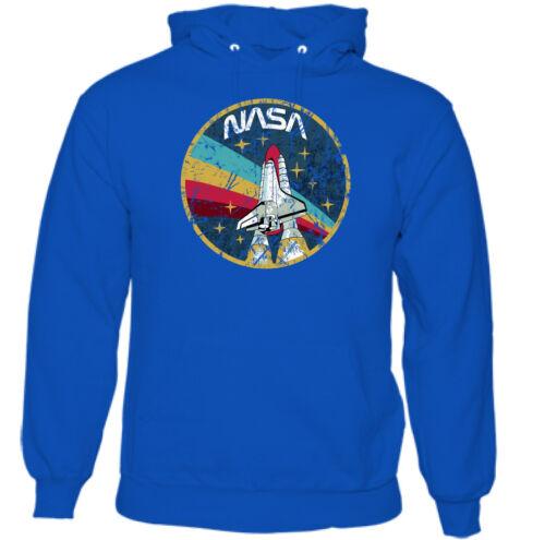 Mens Distressed NASA Logo Hoodie Space Agency