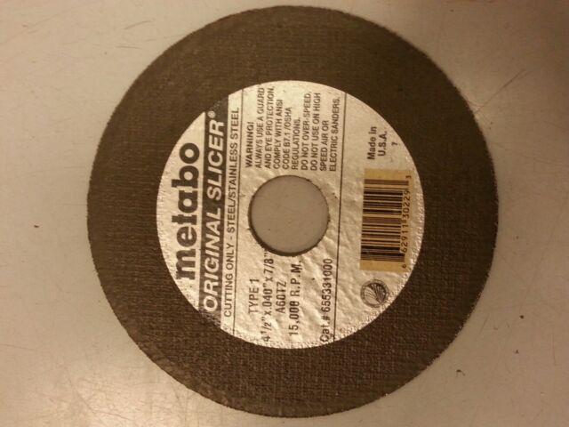 "25 pack Metabo Slicer 55.331 Cutting Wheels 4.5/"" x .040/"" x 7//8/"""