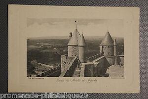 Tarjeta-Postal-Antigua-Cite-Carcassonne-Torre-Del-Molinillo-Y-Mipadre