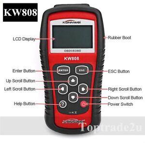 kw808 profi kfz obd2 diagnoseger t diagnose scanner tester. Black Bedroom Furniture Sets. Home Design Ideas