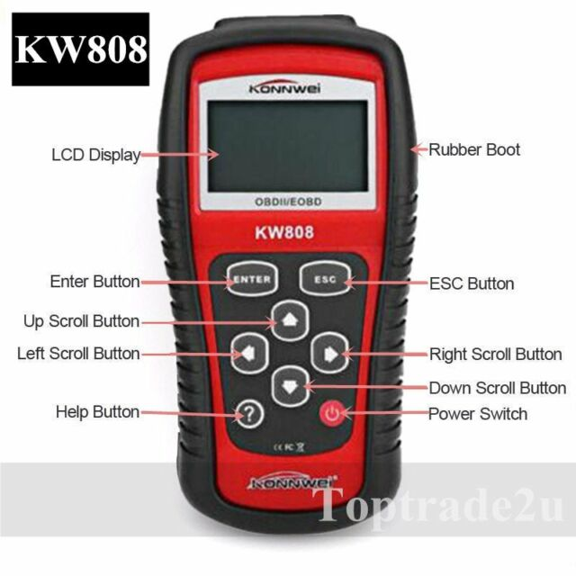 KW808 Profi Kfz OBD2 Diagnosegerät Diagnose Scanner Tester für Auto PKW FahrzeII