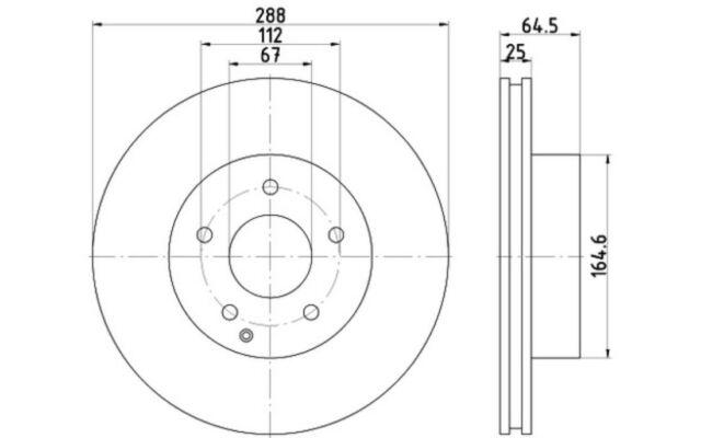 TEXTAR Juego de 2 discos freno 288mm MERCEDES-BENZ CLASE C 92159603