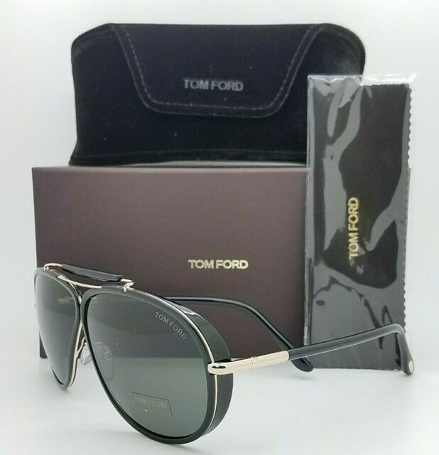 New Tom Ford Cedric sunglasses FT0509/S 01A 65mm Polished Black Grey AUTHENTIC