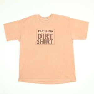 Faded-Orange-Carolina-Dirt-Shirt-T-Shirt-Oversized-LARGE-Drape-Grunge-Dirt-Dyed