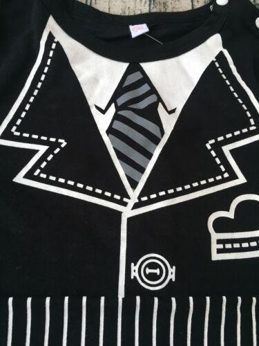 NEW Baby Boy Summer Tuxedo Sleeveless Vest Bodysuit Romper Size 1//2