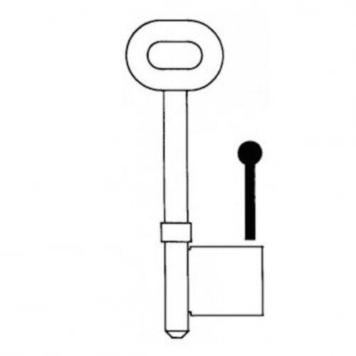 RST Key Blank Pair-2 Keys Mortise Mortice 4 Gauge-R36X4