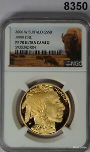 2006 W BUFFALO GOLD COIN .9999 FINE 1OZ NGC CERTIFIED PF70 ULTRA CAMEO #8350