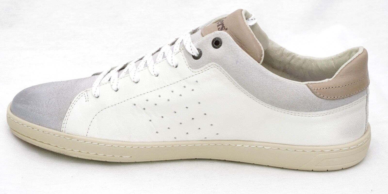 KICKERS SNIFF cuir baskets homme cuir SNIFF Blanc Gris 548690 886caa