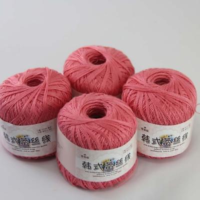 6ballsx50g New Soft Hand Cotton Lace Wool Yarn Crochet Shawl Scarf Knitting 23