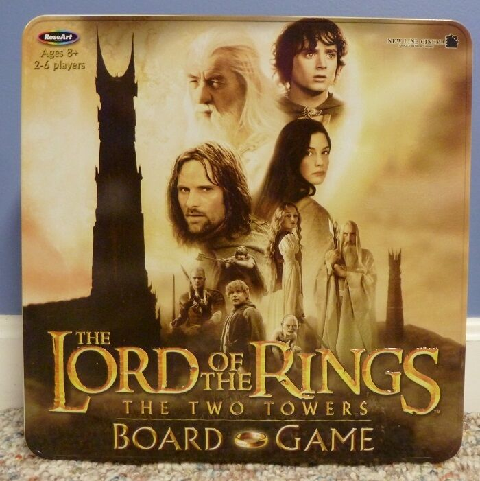 2003 Tin Collectors Edition Lord Of The Rings The Two Towers Board Game Complete