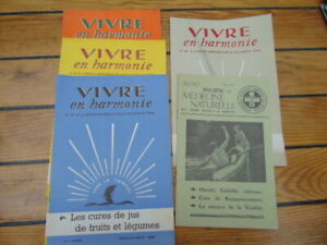 Radient 6 Revues Anciennes Vintage / Vivre En Harmonie 1959 + Medecine Naturelle 1965