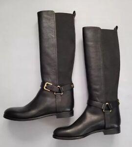 Vintage 1980s Ralph Lauren Italian knee high leather