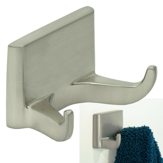 Satin Nickel Double Robe Hook Bathroom Hardware Bath Accessory