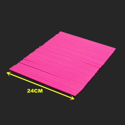 72PCS Pink Spoke Guard Wrap Covers 4 bmw G650 Xcountry G450X HP2